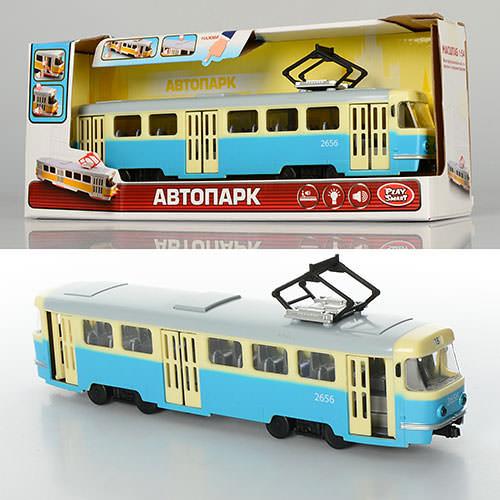 Детский игрушечный трамвай