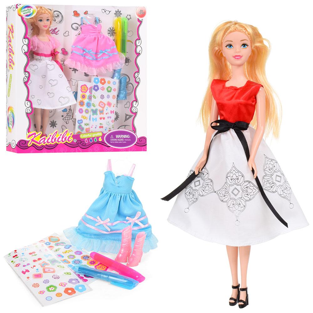 Кукла с нарядом BLD170-1 (24шт) 30см,платье-раскраска ...