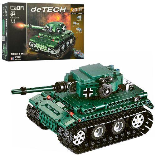 Конструктор C51018W (12шт) р/у, танк, 313дет,едет, на бат-ке, в кор-ке, 44-34-9см