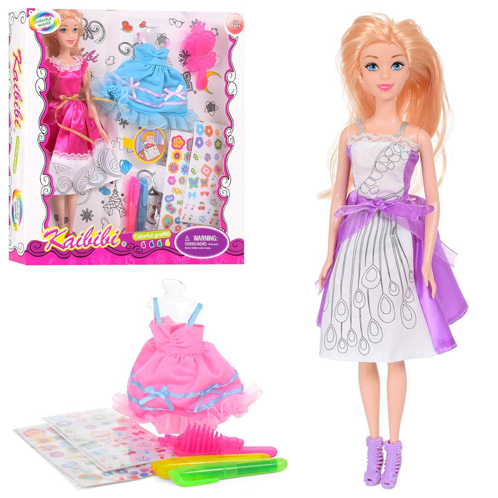 Кукла с нарядом BLD170 (24шт) 30см,платье-раскраска ...