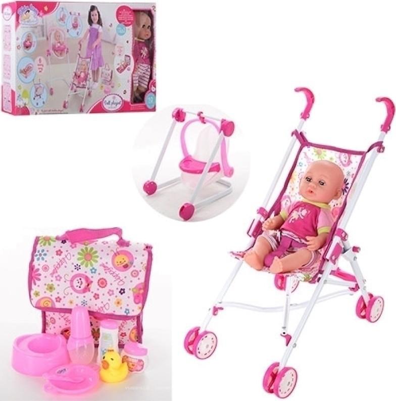 Кукла-пупс с коляской 86986, купить, цена, отзывы